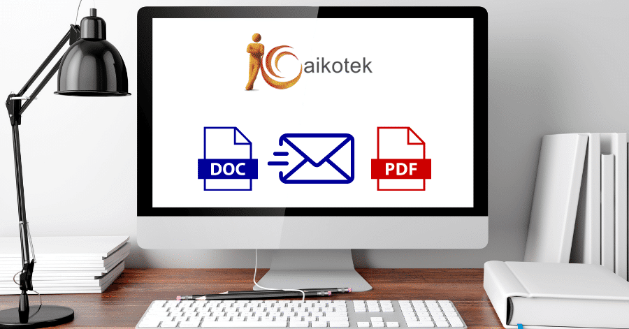 Aikotek how to email a word doc as a pdf